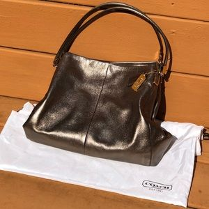 COACH Gold Metallic Purse